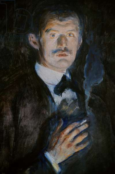 Self-Portrait with Cigarette, 1895, detail