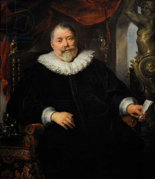 Portrait of Mr. Weerts, ca.1635, by Jacob Jordaens (1593-1678).