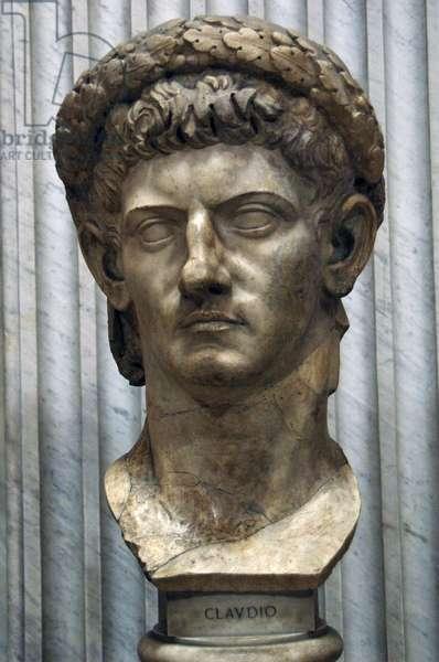 Emperor Claudius (10 BC-54 AD). Bust. Vatican Museums.