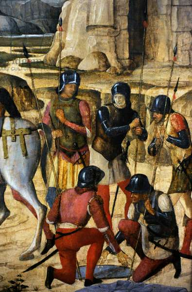 Crucifixion, 1490-93, Italy, Detail, Romans soldiers