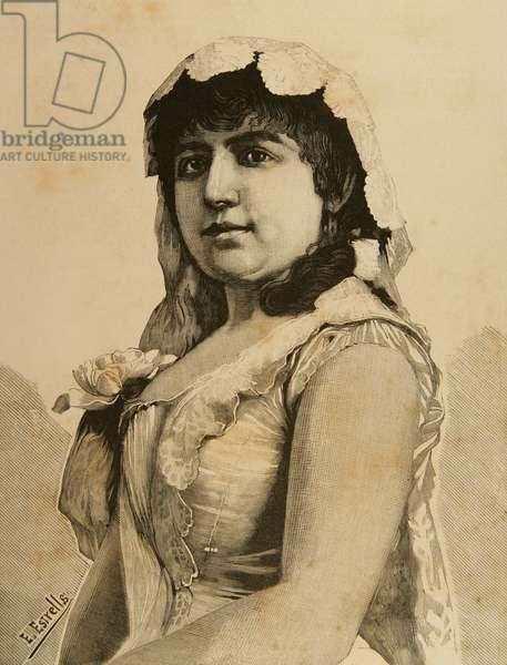 Francisca Copca. Engraving.