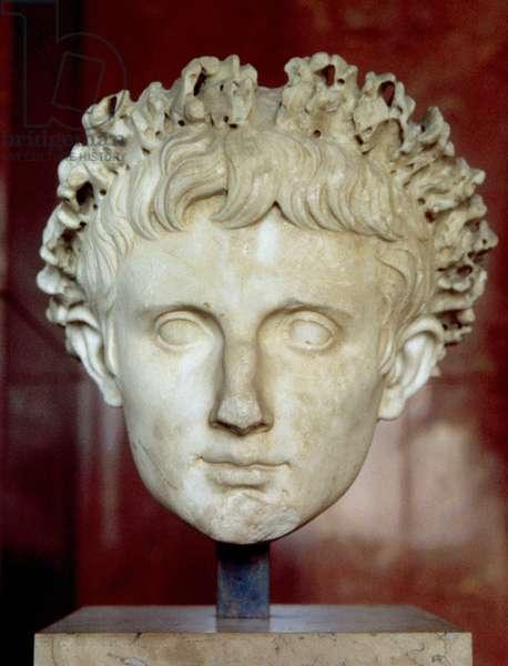 Head of Emperor Augustus, from Certeveri (marble)