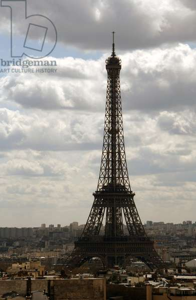France. Paris. Eiffel Tower (1887-1889) by Gustave Eiffel (1832-1923).