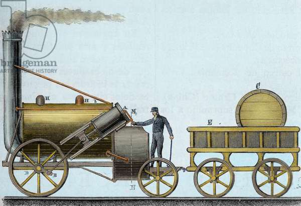 The Rocket. Locomotive designed by British engineer and inventor George Stephenson (1781-1848).