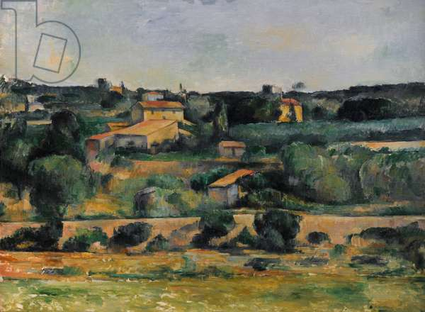 Landscape in the West of Aix-en-Provence, ca.1878, by Paul Cezanne (1839-1906).