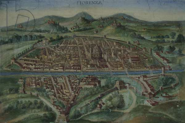 Map of Florence in the 16th century