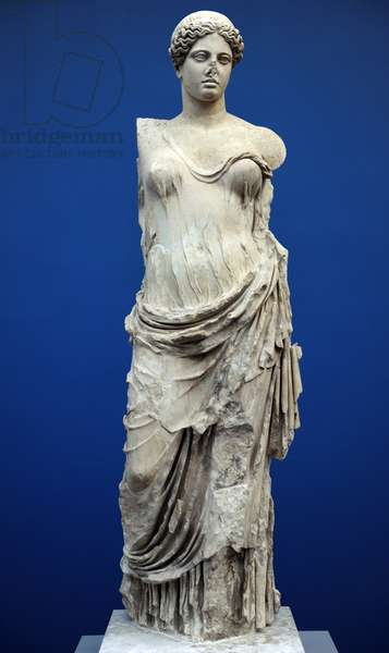 Aphrodite, called Hera Borghese. Monte Calvo. 2nd century AD. Roman marble copy of a Greek bronze statue of the Classical Period (marble)