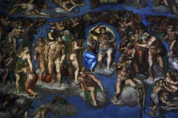The Last Judgement by Michelangelo. 16th century. Vatican City.