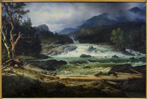 The Waterfalls of Labro in Kongsberg, 1837