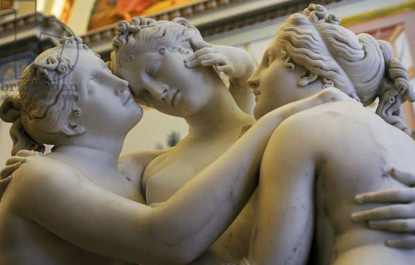 The Three Graces, 1813-1816, by Antonio Canova (1757-1822). Detail.