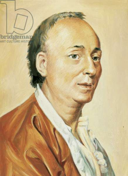 Portrait of Denis Diderot (1713-1784), French writer.