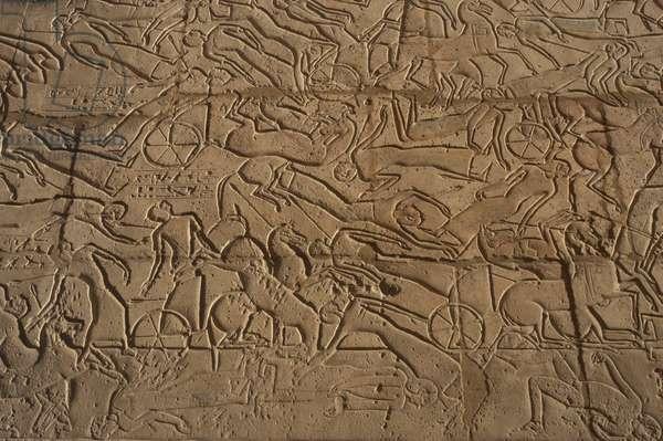 Battle of Kadesh (1274 b.C.). Ramesseum. Egypt.