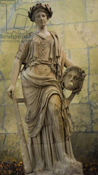 Statue of Melpomene, Muse of Tragedy, Roman, after Greek model of 2nd century BC
