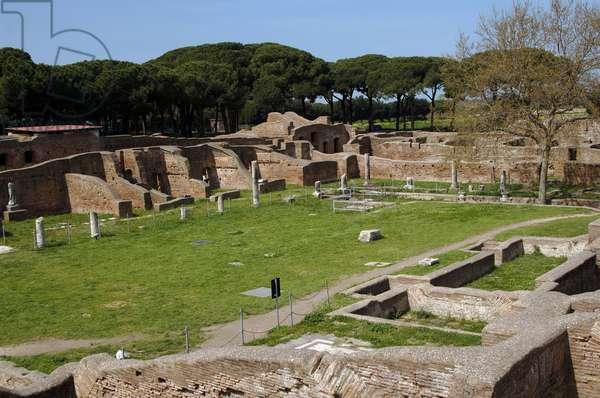 Ostia Antica. Baths of Neptune. 1st - 2nd centuries AD. Palaestra. Italy.