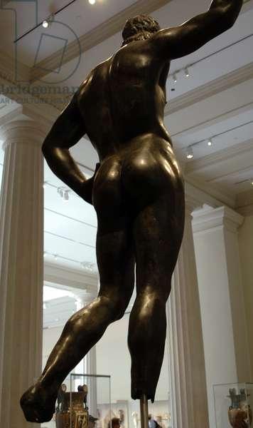 Greek Art. Hellenistic. Bronze male statue. 2nd or 1st century B.C.. Metropolitan Museum of Art. New York. United States.