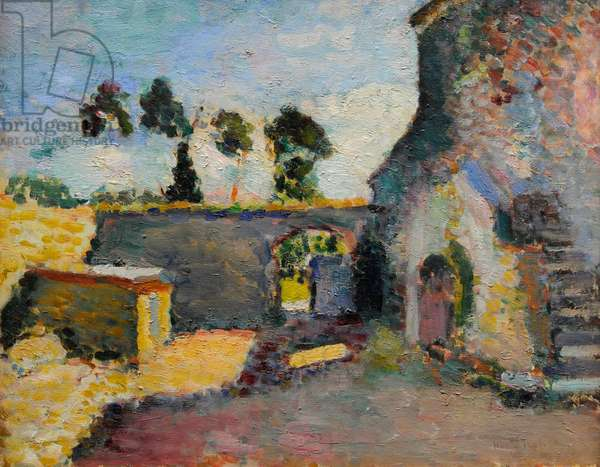 Corsica, The Old Mill, 1898, by Henri Matisse (1869-1954).