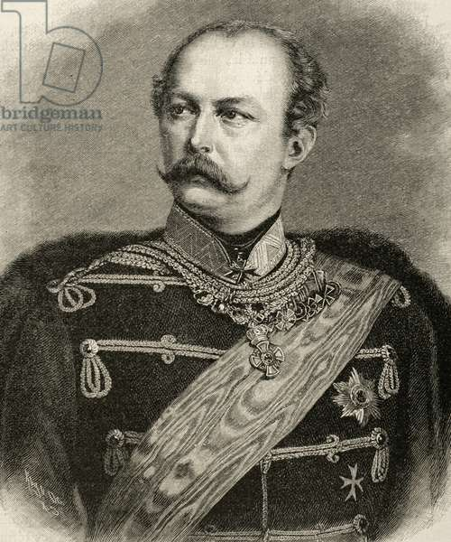 Portrait of Prince Friedrich Karl Nicolaus of Prussia (engraving)