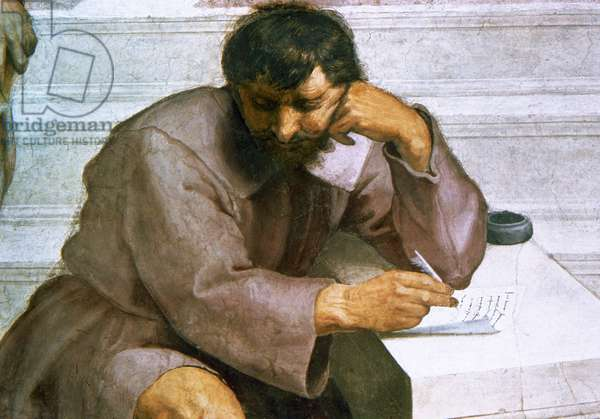 Portrait of Heraclitus of Ephesus, detail from The School of Athens, 1509-10