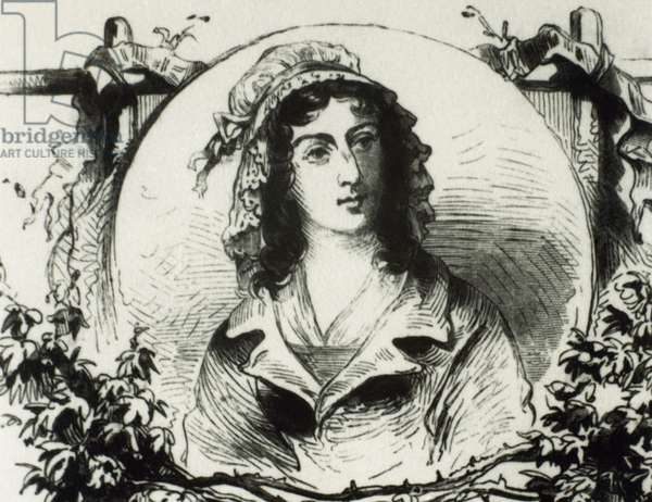 Charlotte Corday (1768-1793). French aristocrat and figure of the French Revolution. Portrait (engraving)