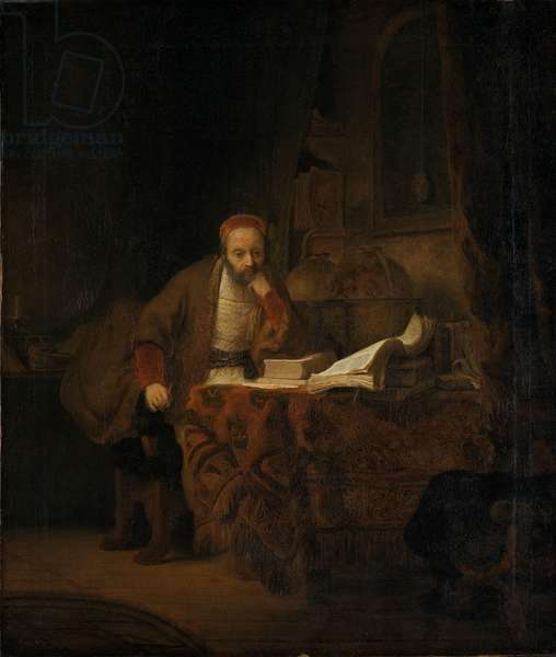 A Scholar in his Study, 1640