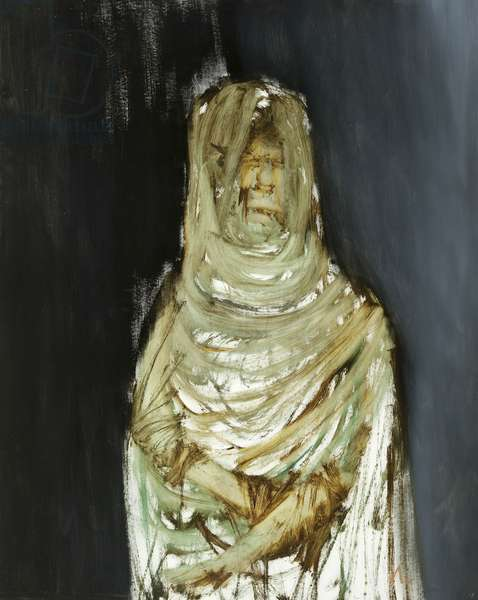 Figure at Harar, 1963 (oil on composition board)