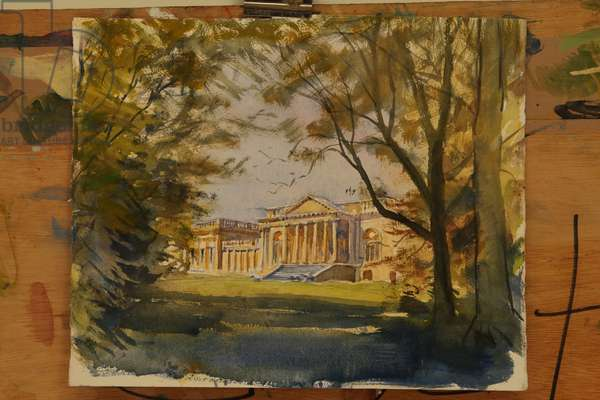 Stowe, South Front (watercolour)