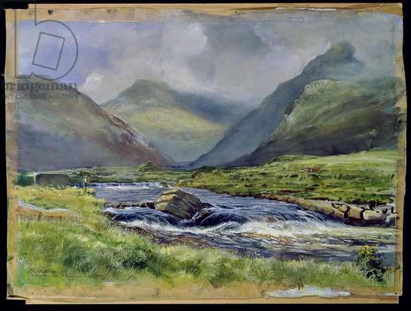 Bundorragha River, Kings and Rock Pools, Co. Mayo, Ireland, 1997 (w/c on paper)