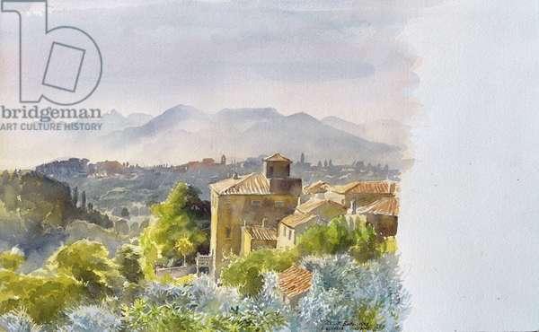 San Ruffino, Casciani, Tuscany, 1998 (w/c on paper)