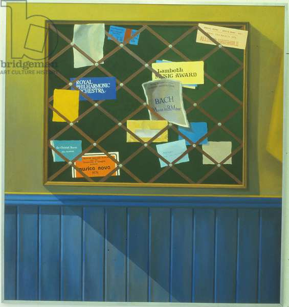 Noticeboard of the Blackheath Conservatoire of Music, 1980 (oil on panel)