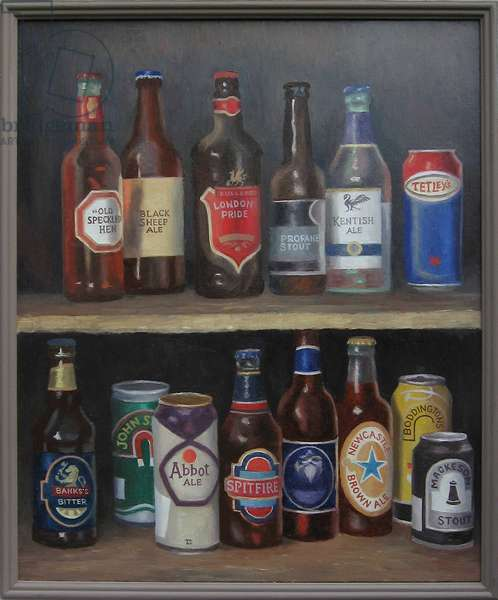 Real Ale Bonanza, 2012 (oil on canvas)
