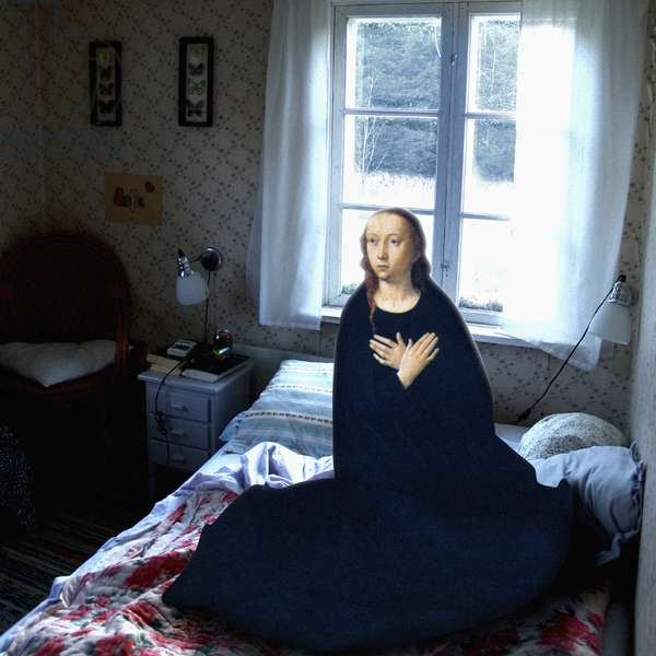 Bed-sit annunciation, 2008 (digital collage)