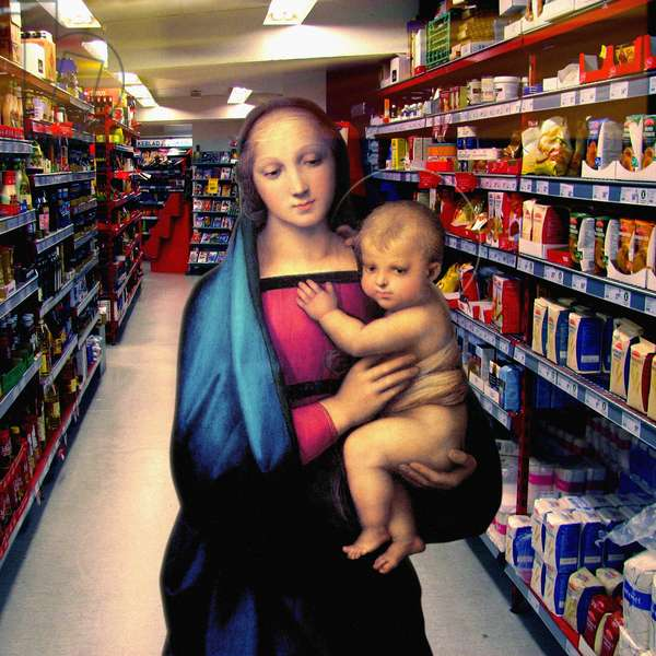 Vision at the Supermarket, 2007 (digital collage)
