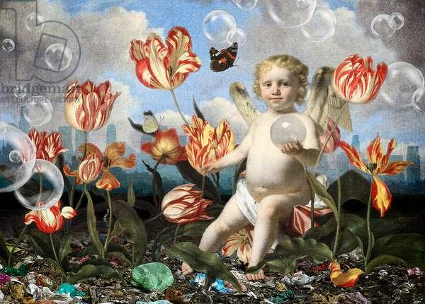 Wonderland II: Vanitas, 2021 (digital collage)