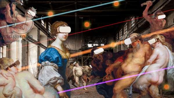 Wonderland I: Bacchanale, 2021 (digital collage)