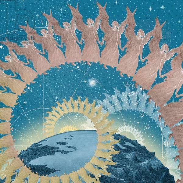 Heavenly Order, 2020, (digital collage)