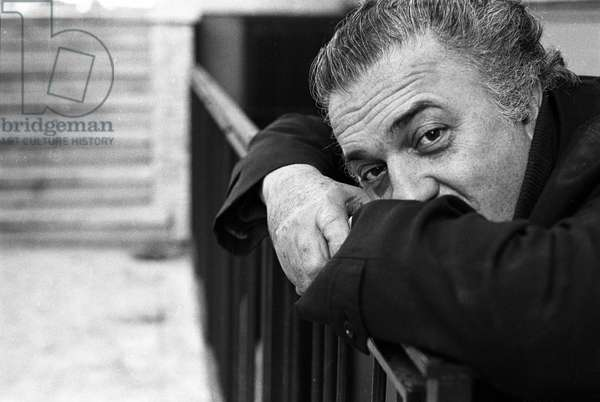 Portrait of the Italian director Federico Fellini in Rome, Italy (Portrait of italian director Federico Fellini in Rome, Italy 1972) Photography