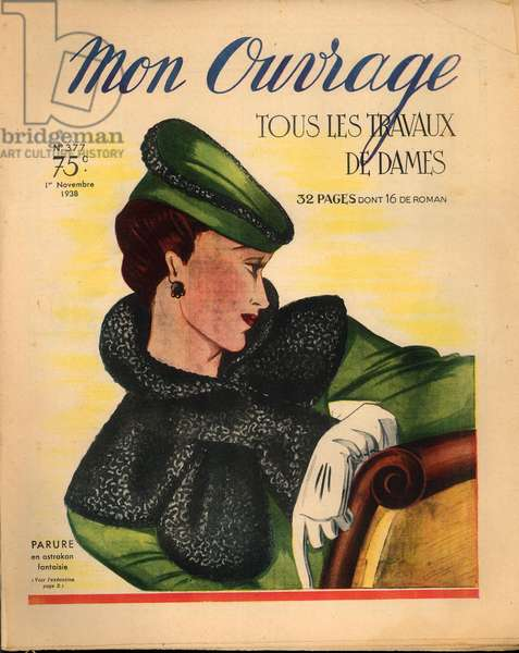 """Cover of """"Mon Ouvrage"""" n° 377, 1 November 1938 (printed paper)"""
