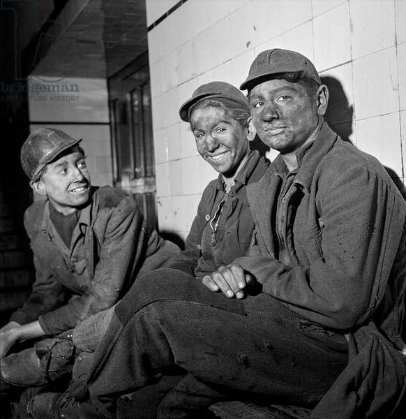 Young Coal Miners, Saarland, Germany, 1948-49 (b/w photo)