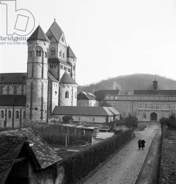 Maria Laach Abbey, Germany, 1947-49 (b/w photo)