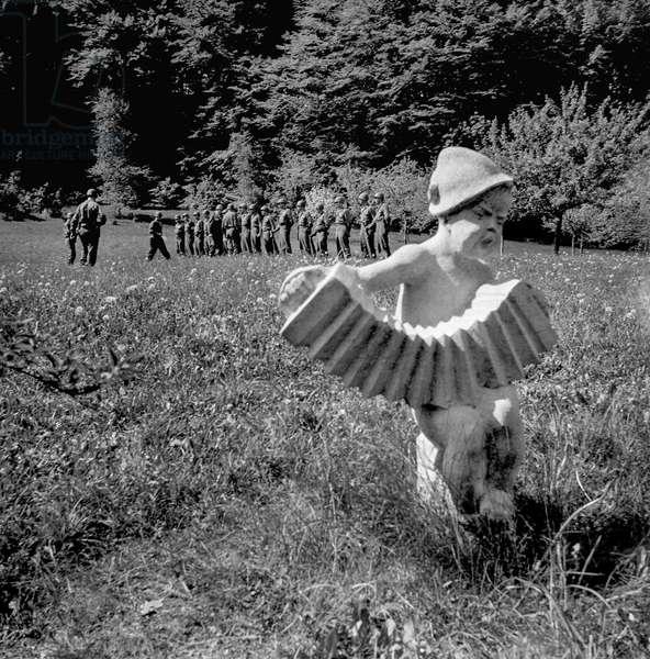 Doing Drills, 1946-49 (b/w photo)