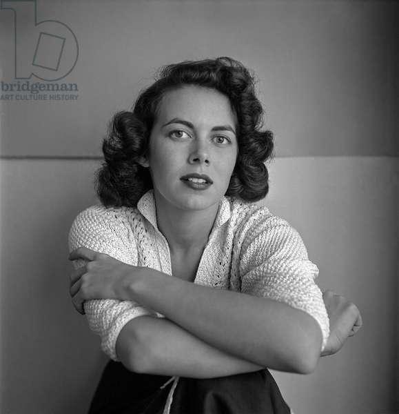 Vanessa Brown, New York, 1950s (b/w photo)