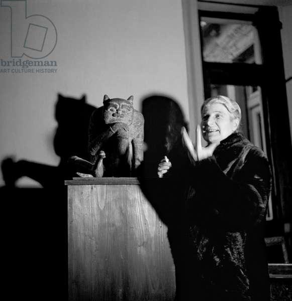 Hanna Bekker, 1949 (b/w photo)