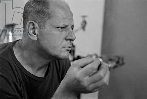 Pollock Smoking, 1953 (b/w photo)