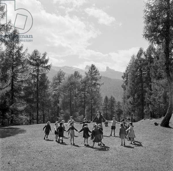 Paradise, Cortina, Italy, 1947 (b/w photo)