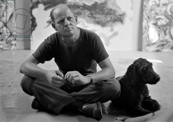 Jackson Pollock, 1953 (b/w photo)