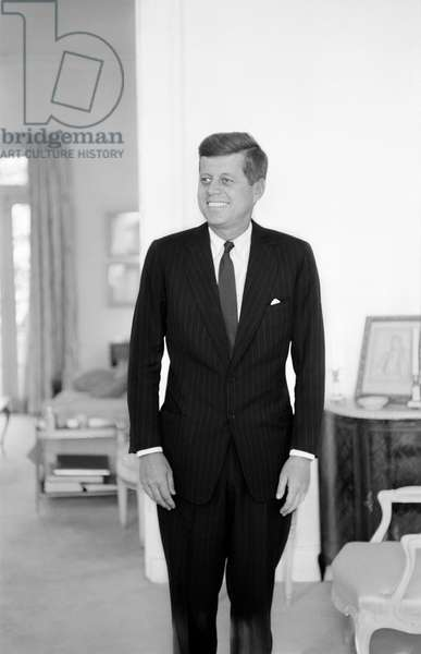 John F. Kennedy, Georgetown, 1960 (b/w photo)