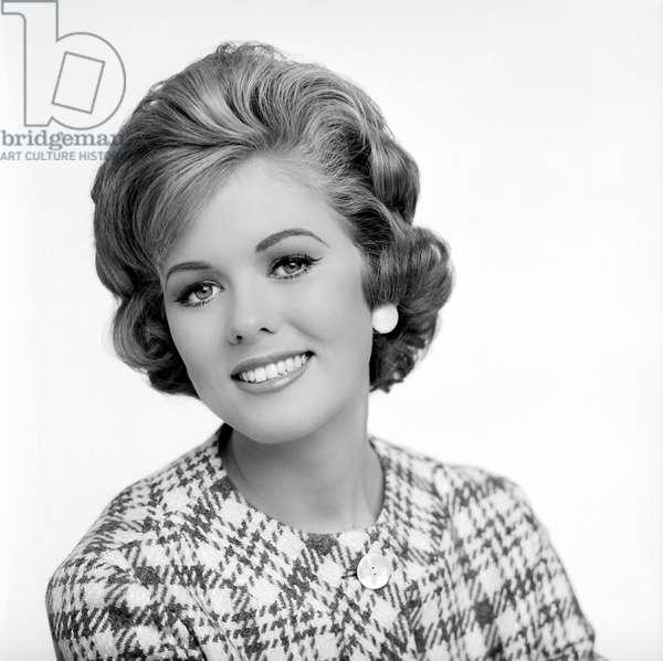 Loretta Rissell, who had just won 'Miss Rheingold Beer', 1963 (b/w photo)