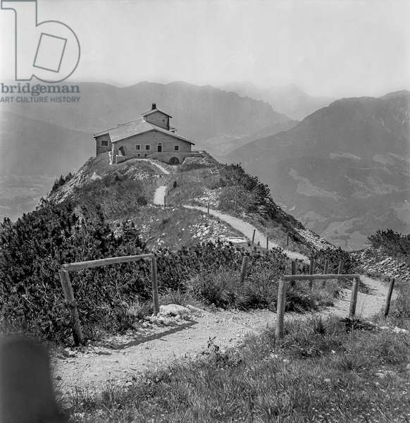 The Eagle's Nest (Kehlsteinhaus), Berchtesgaden, Germany, 1944-49 (b/w photo)