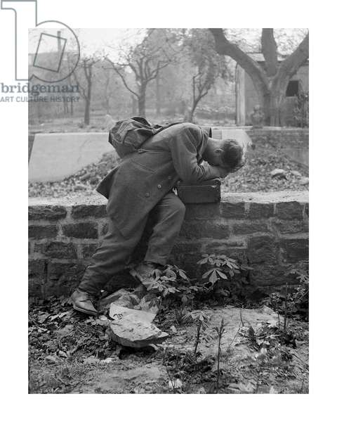 Defeated Soldier, 1947 (b/w photo)