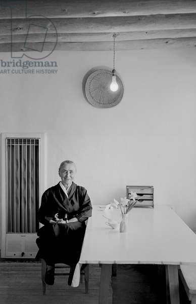 O'Keeffe (b/w photo)